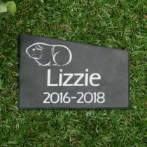 Black smooth slate memorial plaque