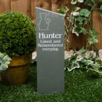 Large green slate stake