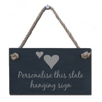Personalised Slate Hanging Sign