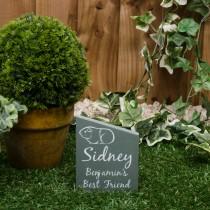Small green slate gravestone